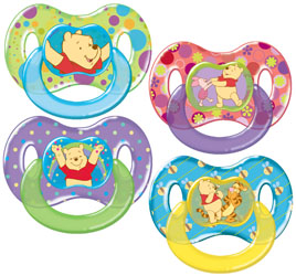 Pooh Pacifiers product design